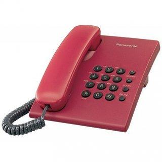 Panasonic KXTS-500MX Telephone Set with Volume Control Option - Red