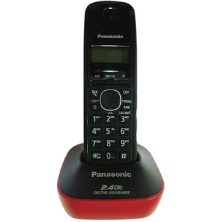 Panasonic KX-TG3411 Caller ID Cordless Phone (Black  Red)