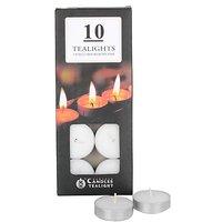 TEALIGHT CANDLES PACK OF 10 PIECES - Longburning, Smokeless