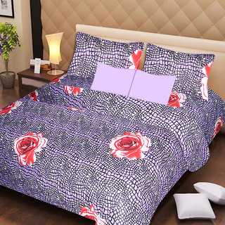 AKASH GANGA MULTI COLOUR  COTTON BEDSHEET WITH 2 PILLOW COVERS (AG1052)