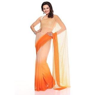 Florence Orange Chiffon Saree (FL-10097)