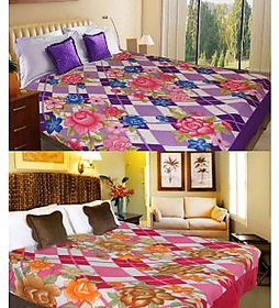 iLiv Multicolour Blends Double Bed AC Blankets - Buy 1 Get 1 -2prntblankets30