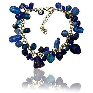 Beadworks Blue Colour  Beaded Bracelet