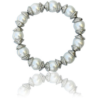 Beadworks White Bracelet For Women