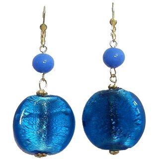 Beadworks Beaded Blue Colour Earrings