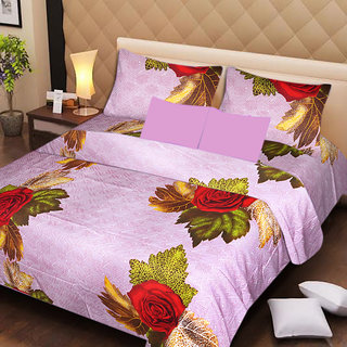 AKASH GANGA MULTI COLOUR  COTTON BEDSHEET WITH 2 PILLOW COVERS (AG1056)