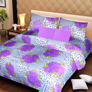 AKASH GANGA MULTI COLOUR  COTTON BEDSHEET WITH 2 PILLOW COVERS (AG1057)
