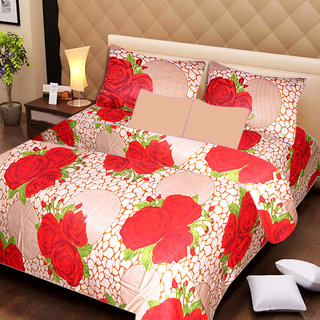 AKASH GANGA MULTI COLOUR  COTTON BEDSHEET WITH 2 PILLOW COVERS (AG1059)