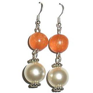 Beadworks Pearl Beaded Earrings