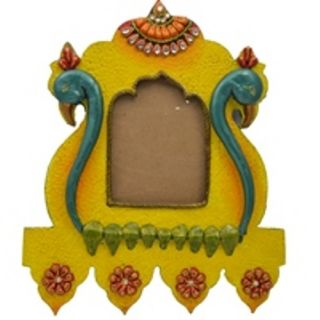 Wooden & Paper Mache Duck Face Wooden Frame with Kundan Work 1919