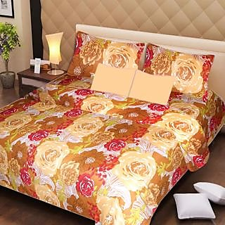 AKASH GANGA MULTI COLOUR  COTTON BEDSHEET WITH 2 PILLOW COVERS (AG1064)