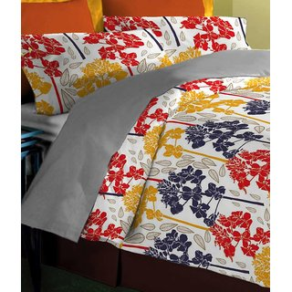 patmos (superior collection) 100%cotton Double Bedsheet With 2 Pillow Cover
