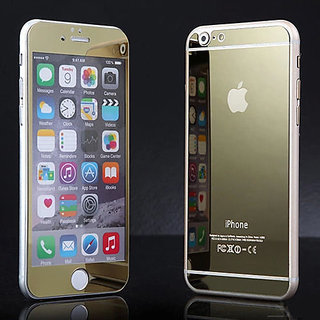 Preum Tempered Glass Screen Protector For  5 5S Gold Front Back