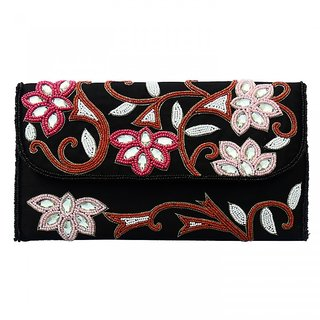 Beadworks Zari Embroidery Purse