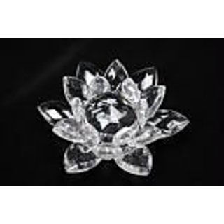 Veena ideals Crystal Lotus Flower - Decoration Gift Feng Shui