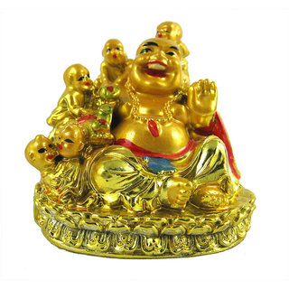 Divyafeng shui laughing buddha with childs