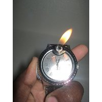 UNIQUE- IN BUILT LIGHTER WRIST WATCH - UNIQUE LOOK - STYLISH ITEM TO GIFT
