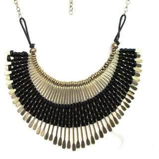 Shanaya Black Woven Thread Necklace