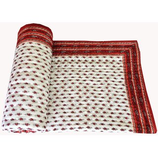 Marwal Silkworm Beautiful Jaipuri Printed Single Quilt/Razai
