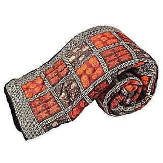 Marwal Jaipuri Hand Block Cotton Double Bed Razai Quilt