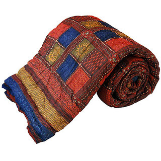 Marwal Jaipuri Bagru Cotton Single Bed Razai Quilt