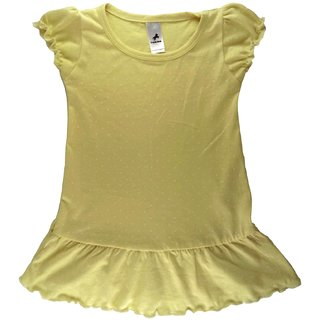 Girls Elegant Top Made with Soft Finished Knit Fabric with Polka Dot Print