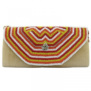 Beadworks Zari Embroidery Purse