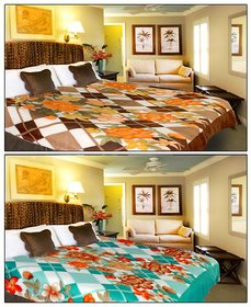 Combo - Double Bed  Single Bed Ac Blankets- -2prntblankets