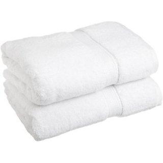 Marwal Plain White Cotton Bath Towels Set Of 2 Towels