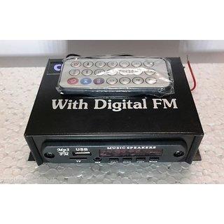 Mini Stereo Audio Amplifier MP3 Music Player USB, FM Radio, Aux IN Remote