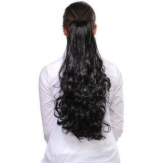 Shanaya Black 18inches Designer Hair Extension to look glamorous  10412