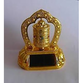 Solar Prayer Wheel Ornaments For Car Feng Shui Vastu Shastra Item KK