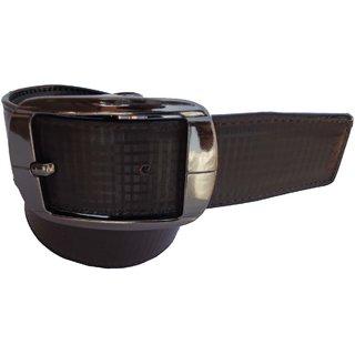 Men's Formal Brown Synthetic Belt - CB PRC 007