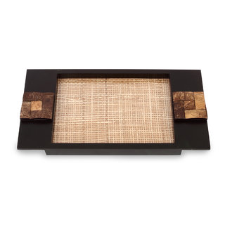 Cocktail Wooden Coco Tray Small Brown Color