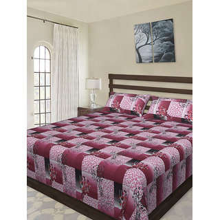 NC Creations Graphic Tree Printed Double Bed Sheet Set (NCBS HHH067)
