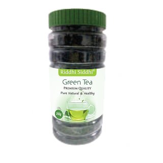 Riddhi Siddhi Premium(Loose Leaf)Green Tea Jar - (250 gm JAR)