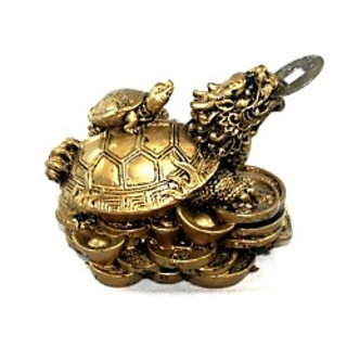Feng Shui Dragon Tortoise With Child