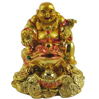 Vastu / feng shui / Golden Laughing Buddha on feng shui Money Frog