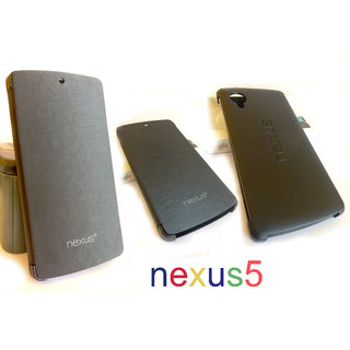 Premium Hard Back Flip Book Case Cover for LG Google Nexus 5 + Screen Guard