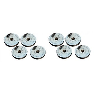 10 KG BODY MAXX CHROME STEEL SPARE WEIGHT PLATES