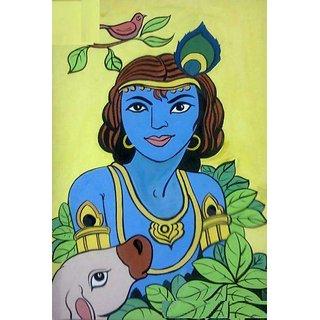Hand made krishna painting