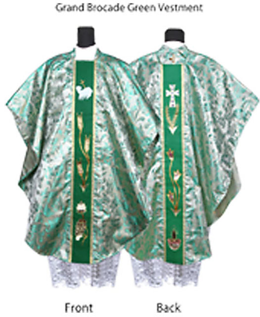 Buy Kanya Krafts-Catholic Priest / Clergy Chasuble / Vestments Grand  Brocade Green Online @ ₹2000 from ShopClues