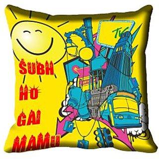 meSleep Quotes Digital Printed Cushion Cover 16x16