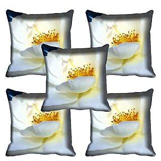 meSleep White Rose Digital Printed Cushion Cover 16x16