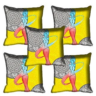 meSleep Lady Digital Printed Cushion Cover 16x16