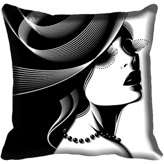 meSleep Abstract Face Digital Printed Cushion Cover 16x16