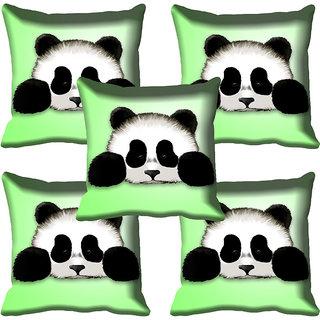 meSleep Panda Digital Printed Cushion Cover 16x16