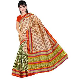 Somya Blue Linen Printed Saree With Blouse