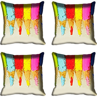 meSleep Multi Color Pen Digital Printed Cushion Cover 16x16