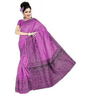 Somya Tantalizing Womens Bhagalpuri Silk Printed Purple Saree